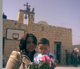 Front of Church Shaneeneh Palm Sunday